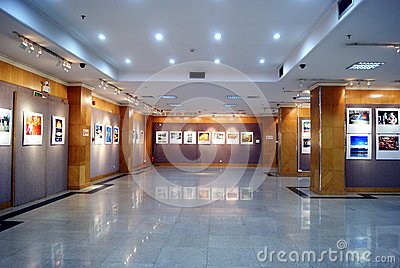 Shenzhen china: photography exhibition Editorial Stock Image
