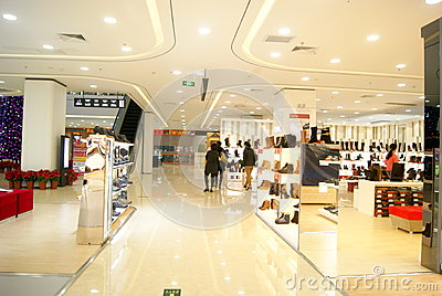 Shenzhen china: shi dai cheng shopping plaza Editorial Image