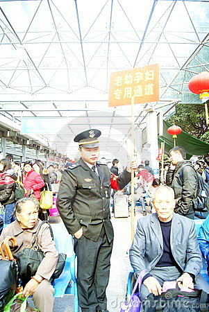 Shenzhen china: spring festival transportation sec Editorial Stock Photo