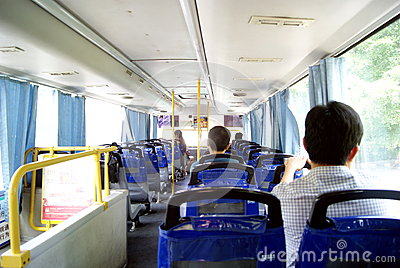 Shenzhen china: take the bus Editorial Image