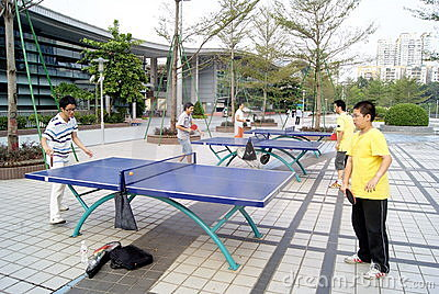 Shenzhen china: to play table tennis