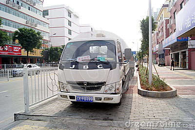 Shenzhen, china: violation of traffic rules and parking Editorial Stock Photo