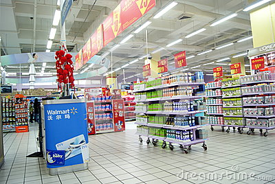 Shenzhen china: wal-mart stores Editorial Image