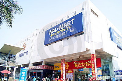 Shenzhen china: wal-mart supermarket Editorial Photo