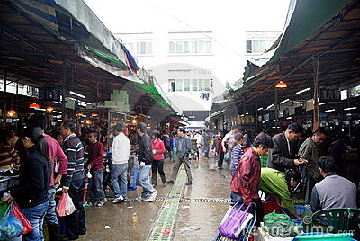 Shenzhen china: wholesale markets for agricultural Editorial Image