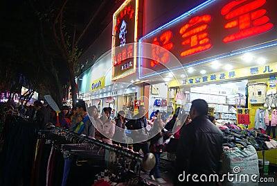 Shenzhen, china: xixiang commercial pedestrian street