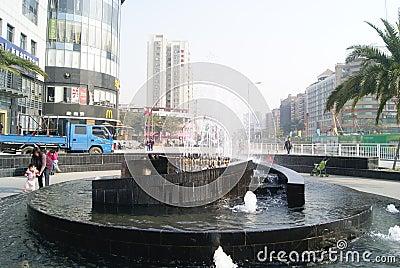 Shenzhen, Chinese: street landscape Editorial Photo