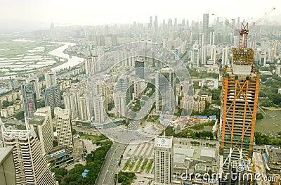 Shenzhen city Editorial Stock Photo