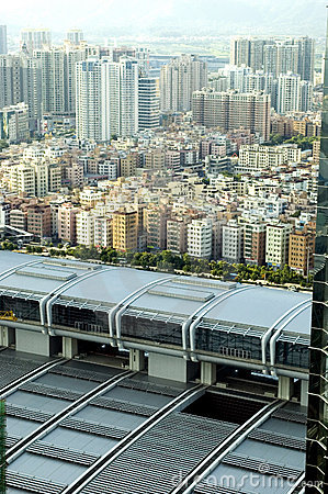 Shenzhen city aerial view