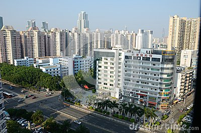 Shenzhen city - Futian district Editorial Stock Image