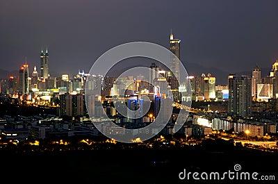 Shenzhen city - night scenery