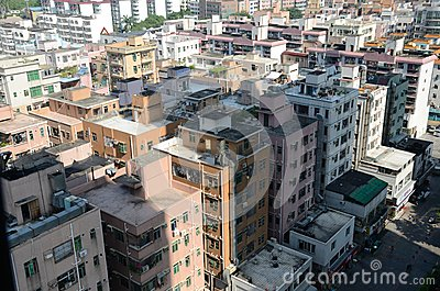 Shenzhen city - residential houses Editorial Stock Photo