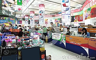 shenzhen:huaqiang electronics market Editorial Image