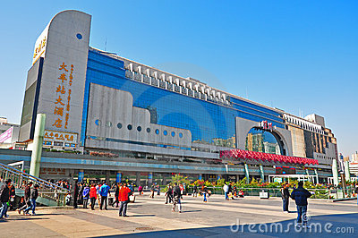 Shenzhen luohu railway station, china Editorial Stock Image