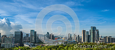 Shenzhen Openbaar Centrum CBD Redactionele Stock Afbeelding