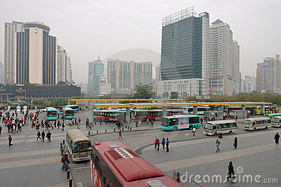 Shenzhen railway station square Editorial Photo
