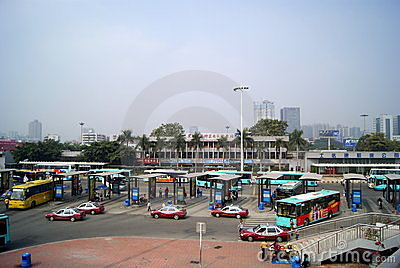 Shenzhen: south end to the frontier inspection sta Editorial Stock Image