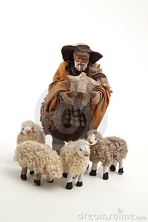 The sheperd and his sheep of the crib