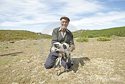 Shepherd in the countryside from Portugal