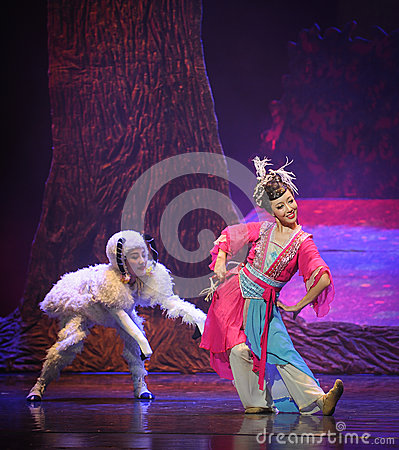 The shepherd-Hui ballet moon over Helan Editorial Stock Photo