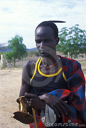 Shepherd Turkana (Kenya) Editorial Photo