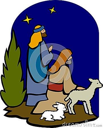 Free Shepherds Of The Nativity/eps Stock Photo - 5899650