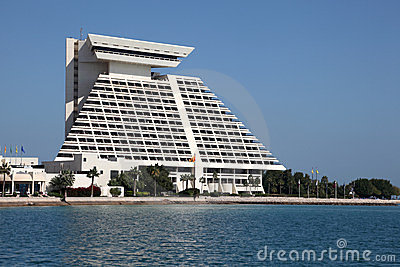 Sheraton Hotel in Doha, Qatar Editorial Image