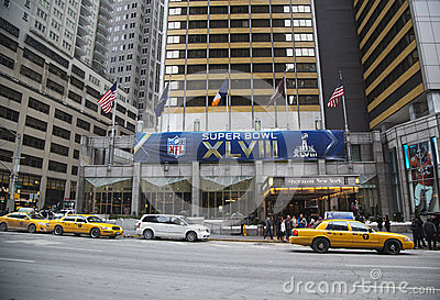 Sheraton New York welcomes visitors during Super Bowl XLVIII week in Manhattan Editorial Photo