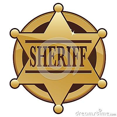 Free Sheriff Badge Icon Royalty Free Stock Photos - 17833508