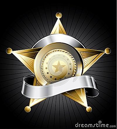 Free Sheriff Badge Illustration Stock Photo - 10651100