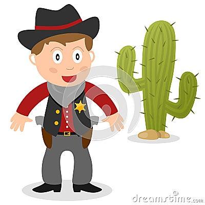 Sheriff con el cactus