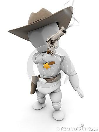 Sheriff with smoking gun