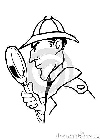 Sherlock Holmes cartoon vector