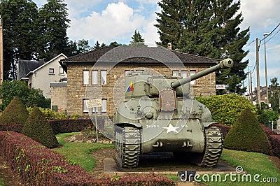 Sherman Tank Vielsalm Editorial Stock Image