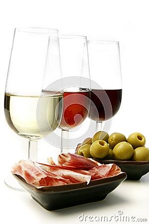 Free Sherry Wine And Tapas Stock Photo - 10376640