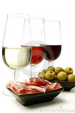Sherry wine and tapas
