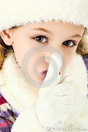 Shhhhh Quiet Girl Keeping Secret