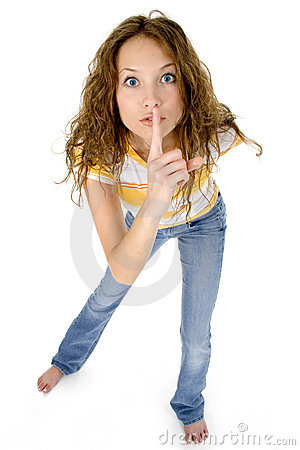 Shhhhhh Royalty Free Stock Photos - Image: 708188