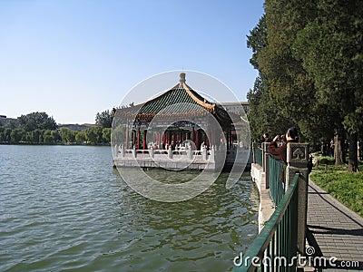 Shi-sa-hai lake in central beijing Editorial Stock Image