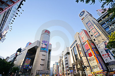 Shibuya area in Tokyo, Japan Editorial Stock Photo