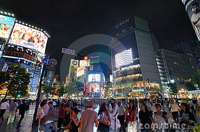 Shibuya Crossing Editorial Stock Image