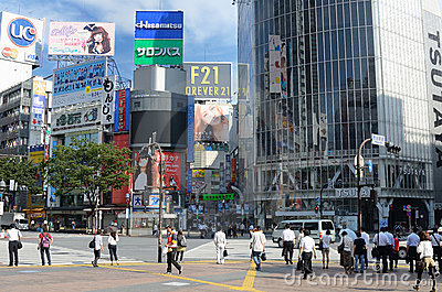 Shibuya Crossing Editorial Stock Photo