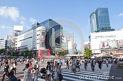 Shibuya crossing,Tokyo Editorial Image