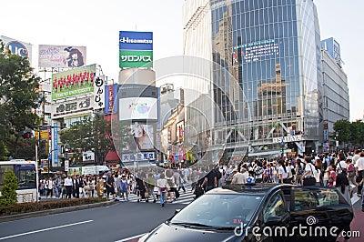 Shibuya crossing,Tokyo Editorial Stock Image