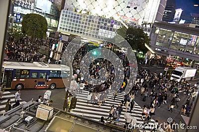 Shibuya crossing,Tokyo Editorial Photography