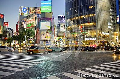 Shibuya crossing,Tokyo Editorial Stock Photo
