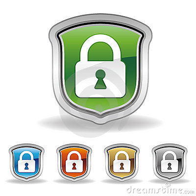 Free Shield And Lock Icon Stock Photo - 16461360