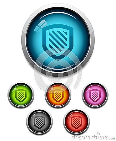 Shield button icon