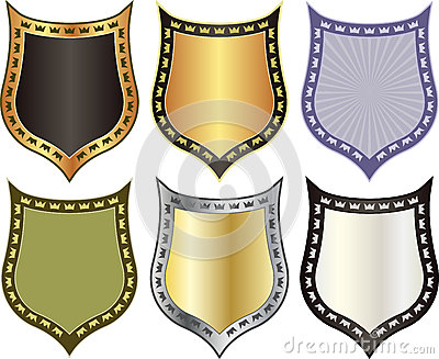 Shield with crowns