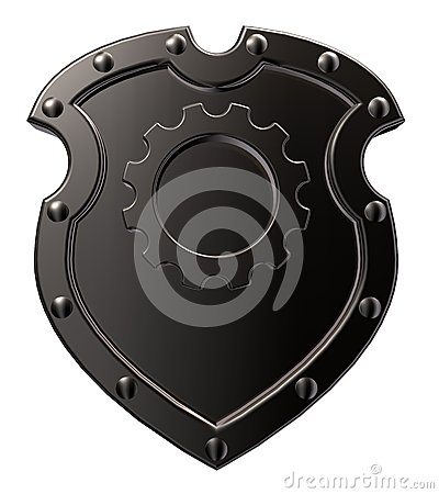 Shield with gear wheel